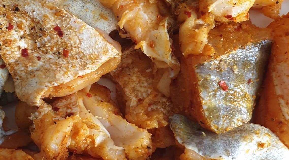 cod and haddock slices
