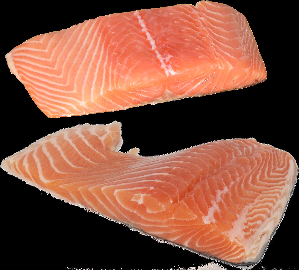 Salmon fish fillets
